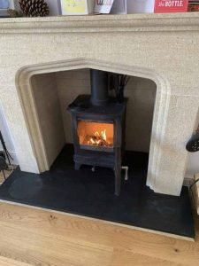fireplace beige after Clean and sweep - Chimney sweep based in Brighton/Saltdean