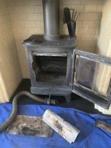 fireplace beige before Clean and sweep - Chimney sweep based in Brighton/Saltdean