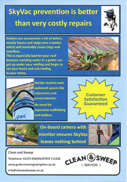 Clean and sweep uses up to date techniqes for cleaning your gutters