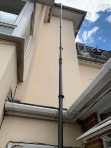 gutter cleaning high up Clean and sweep - Chimney sweep based in Brighton/Saltdean
